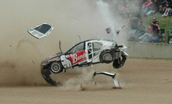 Fabian Coulthard survived this horrific rollover at Bathurst last year