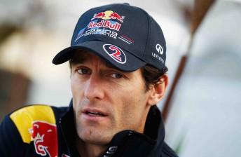 Australian F1 driver Mark Webber