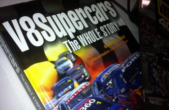 Spy pics of the new book – V8 Supercars, The Whole Story –to be released on August 1