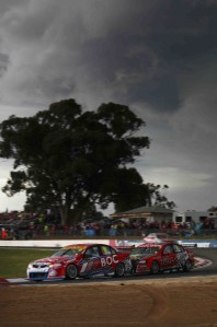 The skies weren't so Bright at Winton late on Sunday ...