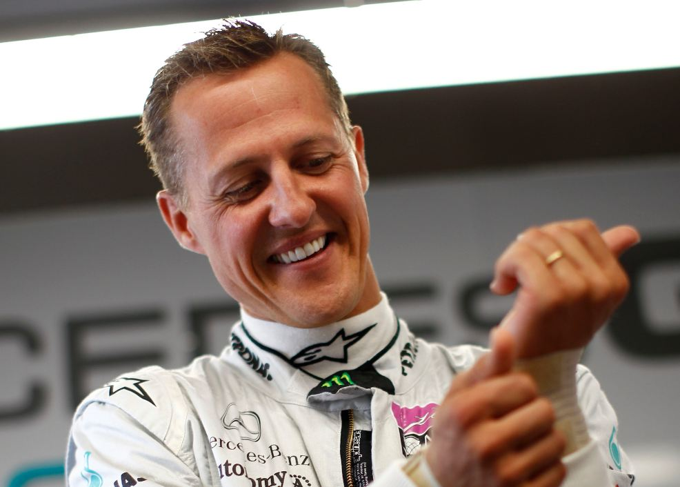 Schumacher 'laughing and crying' in fourth