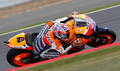 Stoner tops practice times at Silverstone