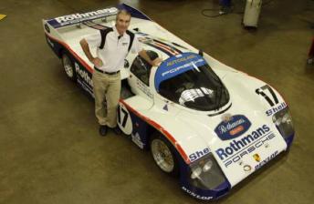 Tomas Mezera with the Porsche 962C