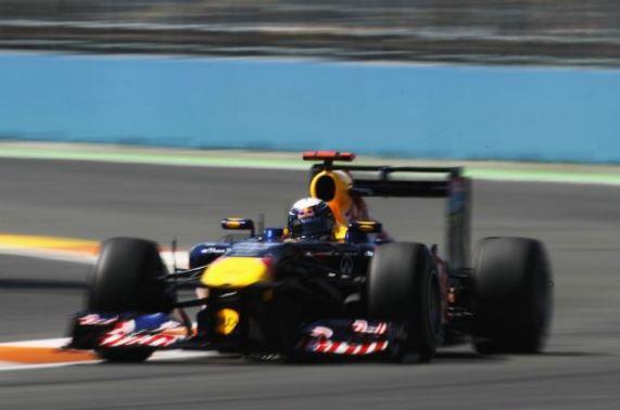 Sebastian Vettel in control in Valencia