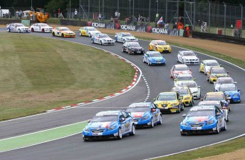 The World Touring Cars (pictured) and DTM compete at Brands Hatch