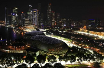 The Singapore Grand Prix circuit is held in September under lights