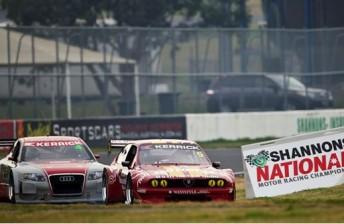 Ricciardello leads Hossack through Turn 1