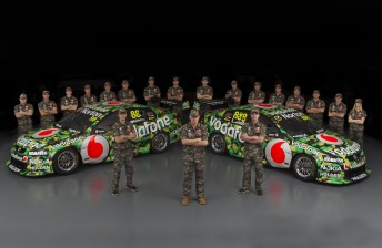 TeamVodafone with its Townsville look