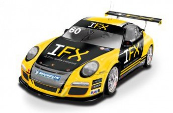 The artists impression of the IFX Porsche Carrera Cup that will act as a display car in the coming weeks