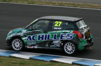 Allan Jarvis in his Suzuki Swift