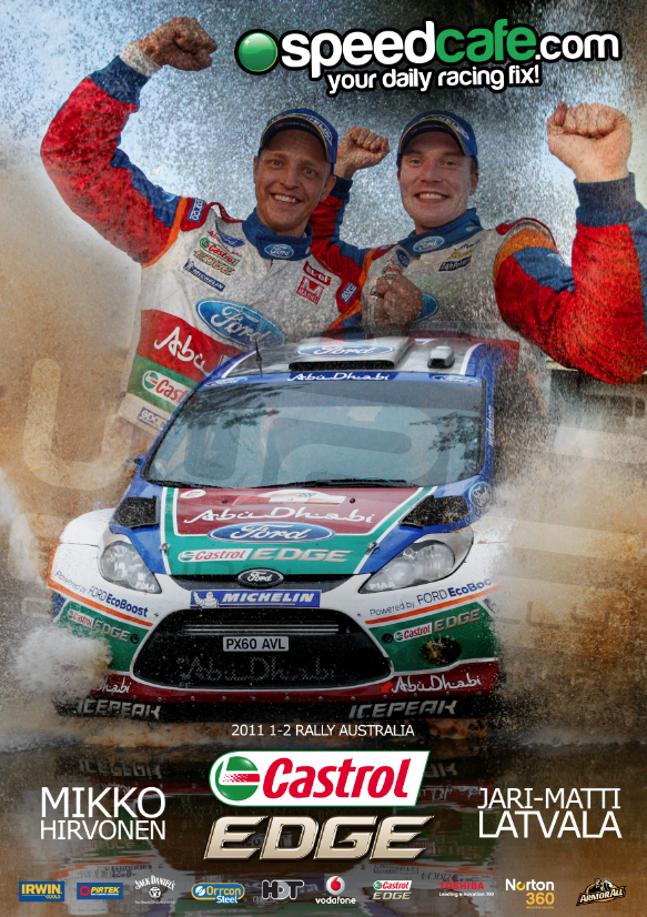 Ford 1 2 Castrol 1   2 Finish Rally Australia
