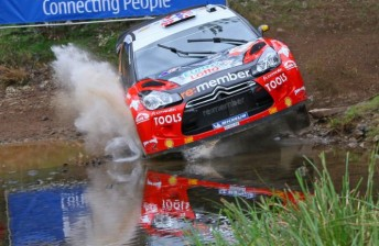 Petter Solberg finished third in Australia