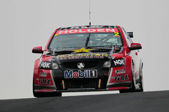Garth Tander in the #2 Toll Holden Racing Team Commodore VE