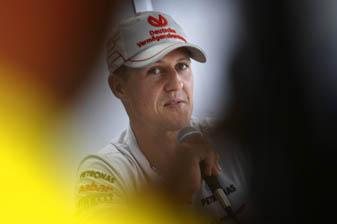 Michael Schumacher tops Korean practice