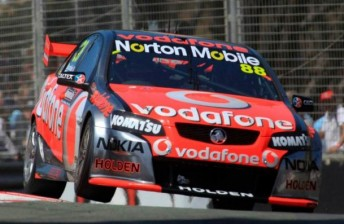 Whincup in the TeamVodafone Commodore