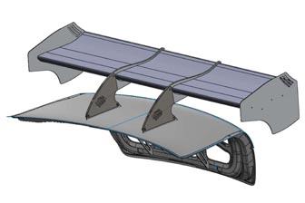 DTM-style rear wing for V8SuperTourers