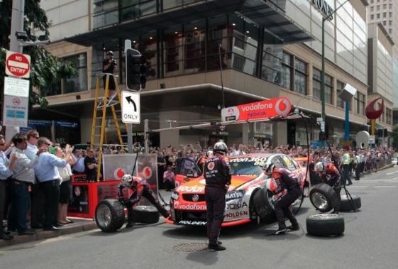 Brisbane pitstop video grabs global attention