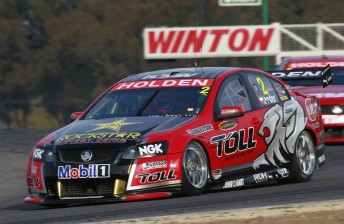 Garth Tander at Winton earlier this year