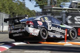Fabian Coulthard competed in his last V8 event with Bundaberg Racing at the Sydney Olympic Park