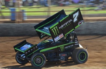 Steven Lines won the opening night of the Australian Sprintcar Title aboard the Monster Energy Drinks machine