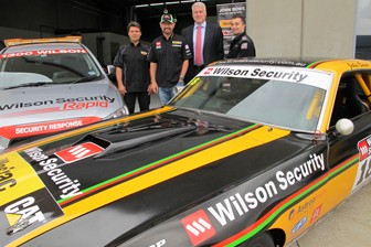 Drew Marget with John Bowe and Wilson Security's John McMellan and Con Lygizos