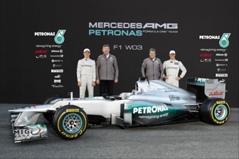 Mercedes unveils W03 at Barcelona