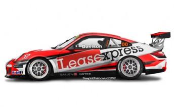 An artists impression of James Davison's Carrera Cup car