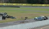 Huge crash mars second Manfeild V8 SuperTourers race
