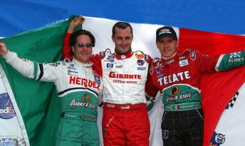 Mexican drivers Mario Dominguez, Michael Jourdain Jr and Andrian Fernandez