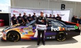 Denny Hamlin claims Brickyard pole