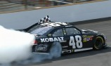 Jimmie Johnson wins at the Brickyard