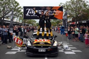 2011 Targa NZ winners Tony Quinn and Naomi Tillett