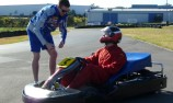 Battlelines drawn in Eastern Creek media kart race