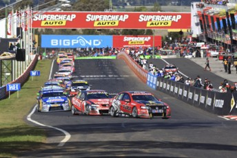Pit straight at Mount Panorama has seen many different sponsors adorn the bridge