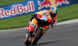 Pedrosa takes pole as Stoner, Hayden suffer injuries