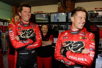 Holden Racing Team drivers Garth Tander and James Courtney