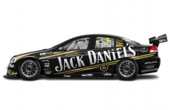 The revised Jack Daniel's Racing livery