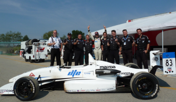 Matthew Brabham and his team celebrate after his championship success