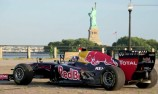 Red Bull Racing F1 car on the streets of New York