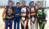 Drivers skydive to promote Gold Coast 600
