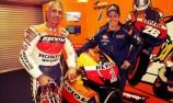 Mick Doohan samples latest-generation Repsol Honda