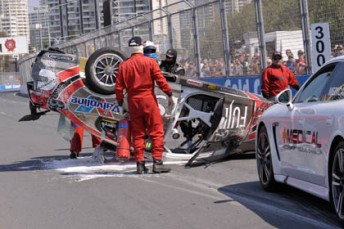 V8 Crash EV12 12 j2227 344x229 Depleted field for Sunday Gold Coast V8 race