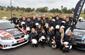 The 2011 cast of celebrities that raced at Albert Park