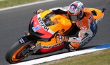 Casey Stoner on top in opening practice at Phillip Island