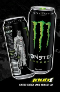 The limited-edition Jamie Whincup packaging on Monster Energy's latest can