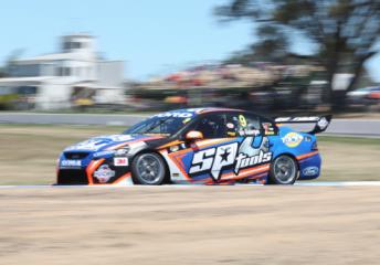 Shane van Gisbergen during practice at Winton Motor Raceway yesterday