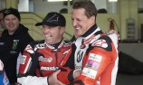 Schumacher returns to the track on two wheels
