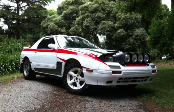 Glen Raymond will return to the Australian Rally Championship in this Mazda RX7 next year