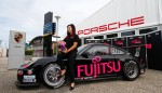 Gracie with the Fujitsu Porsche at the Sydney Telstra 500