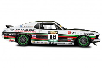 2013 TCM Bowe Dunlop Super Dealer Wilson Security Mustang illustration by ssMEDIA copy 344x230 Bowe reveals new sponsor, livery for Touring Car Masters